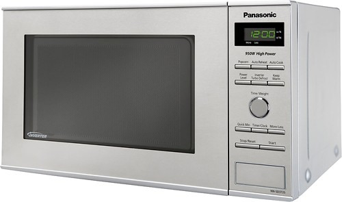 panasonic 0 8 cu ft mid size microwave stainless steel