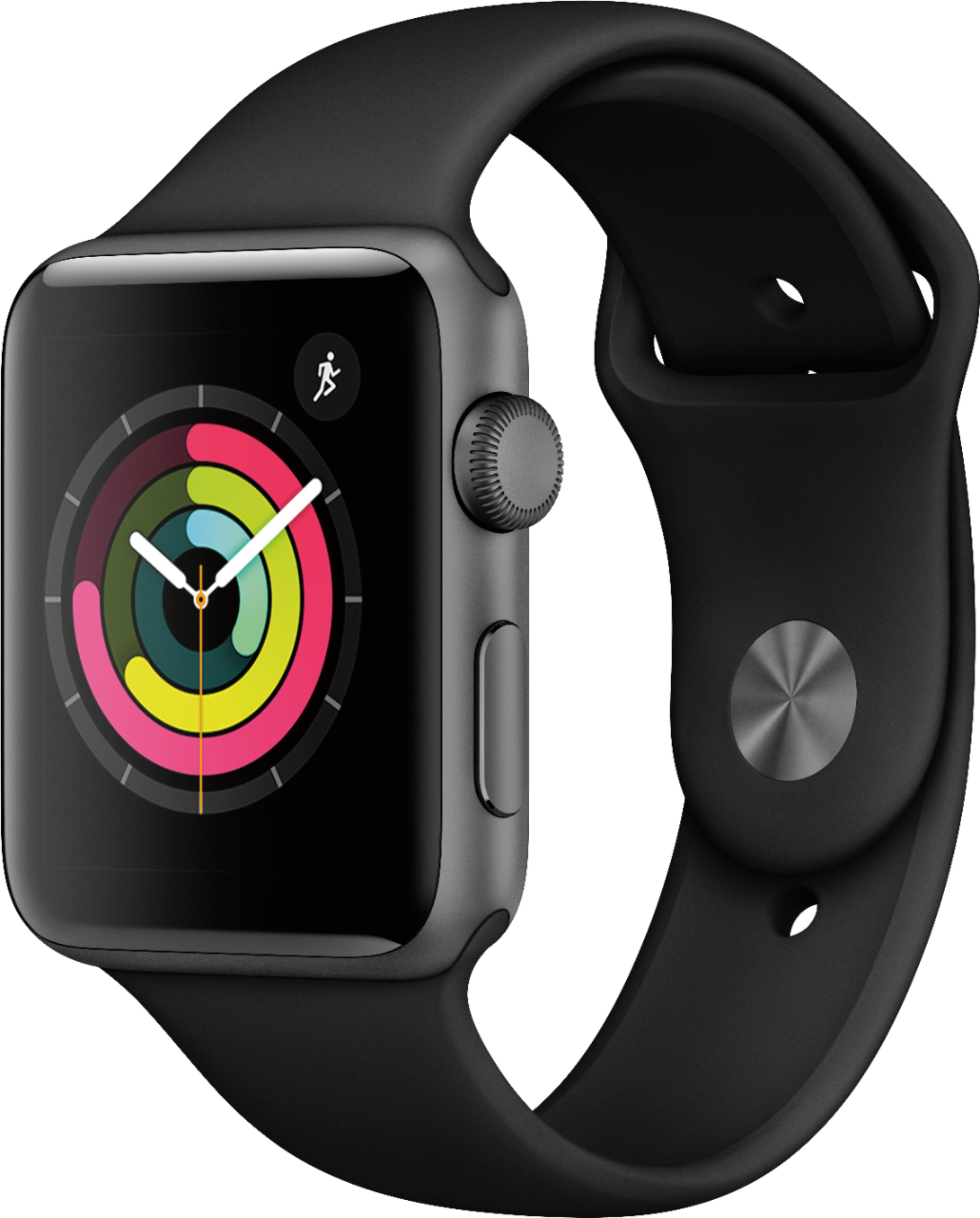 Apple Watch Series 3 (GPS) 42mm Space Gray Aluminum Case with Black Sport Band - Space Gray Aluminum