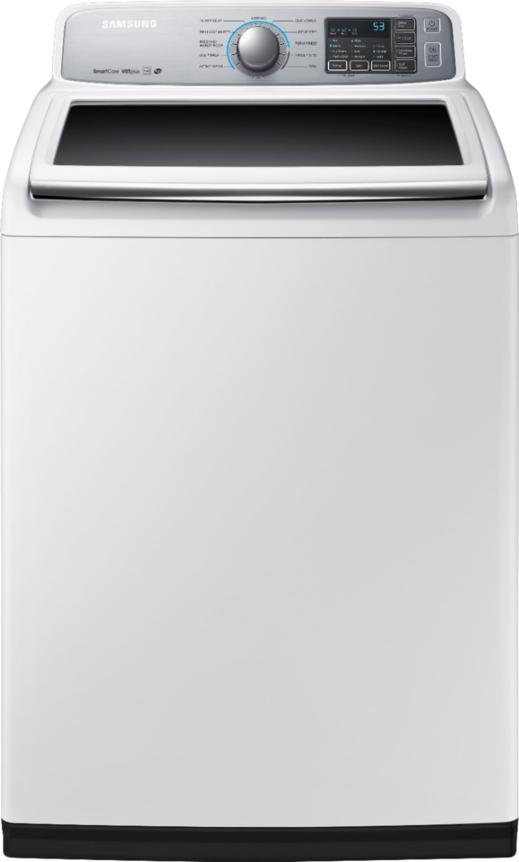 Best Buy Samsung 5 0 Cu Ft 11 Cycle High Efficiency Top Loading Washer White Wa50m7450aw