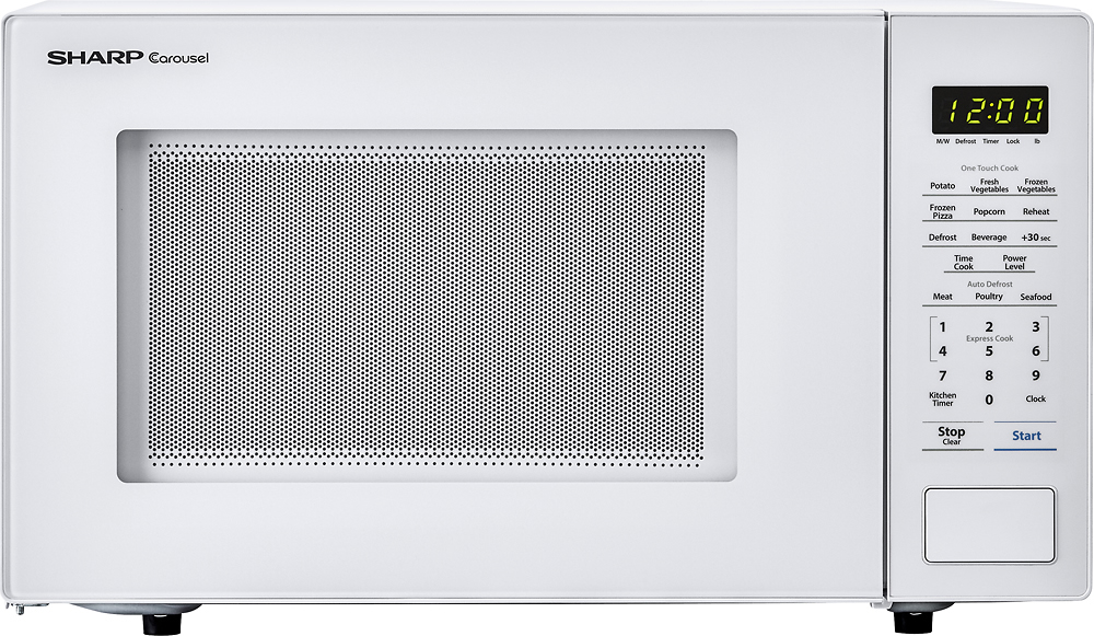 sharp carousel 1 1 cu ft mid size microwave white