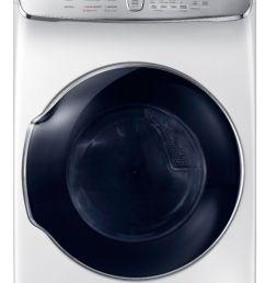 capacity flexdry electric dryer white dve60m9900w best buy [ 1744 x 2941 Pixel ]
