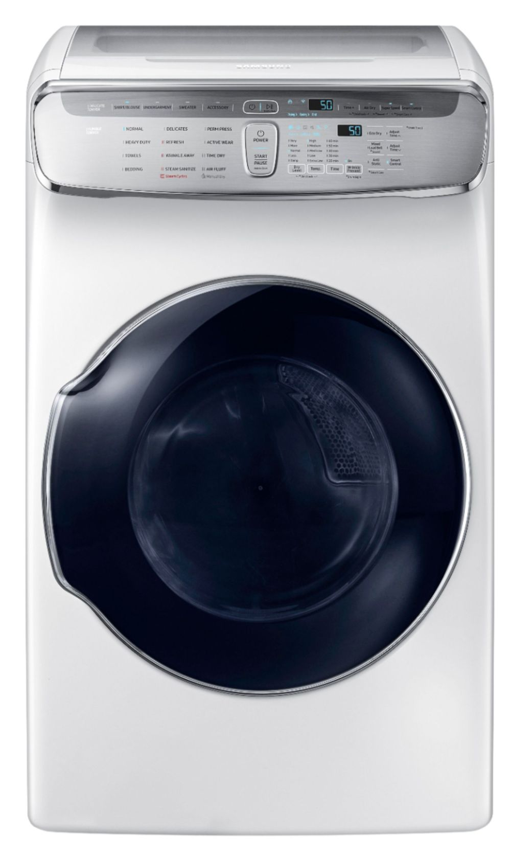 medium resolution of capacity flexdry electric dryer white dve60m9900w best buy