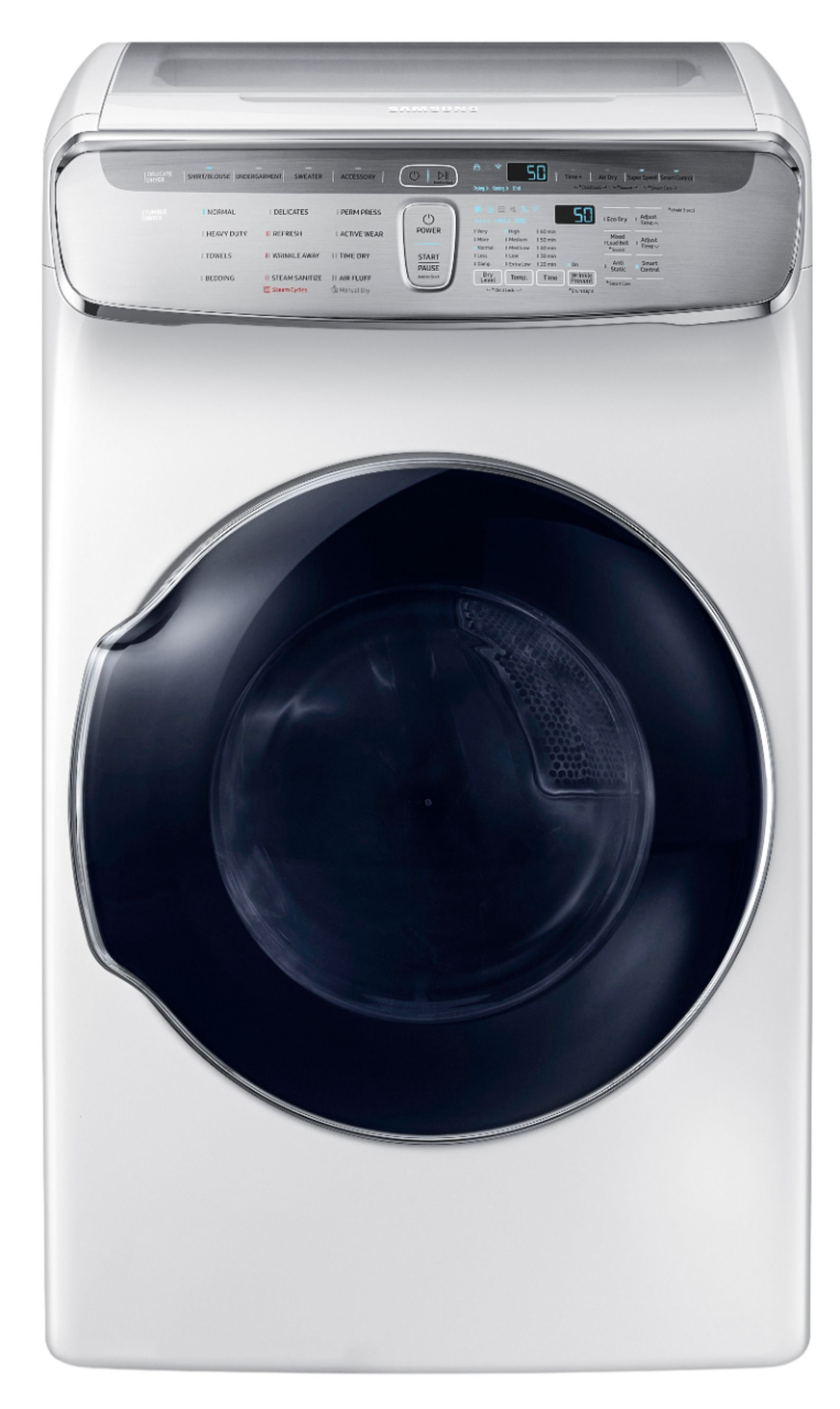 hight resolution of capacity flexdry electric dryer white dve60m9900w best buy