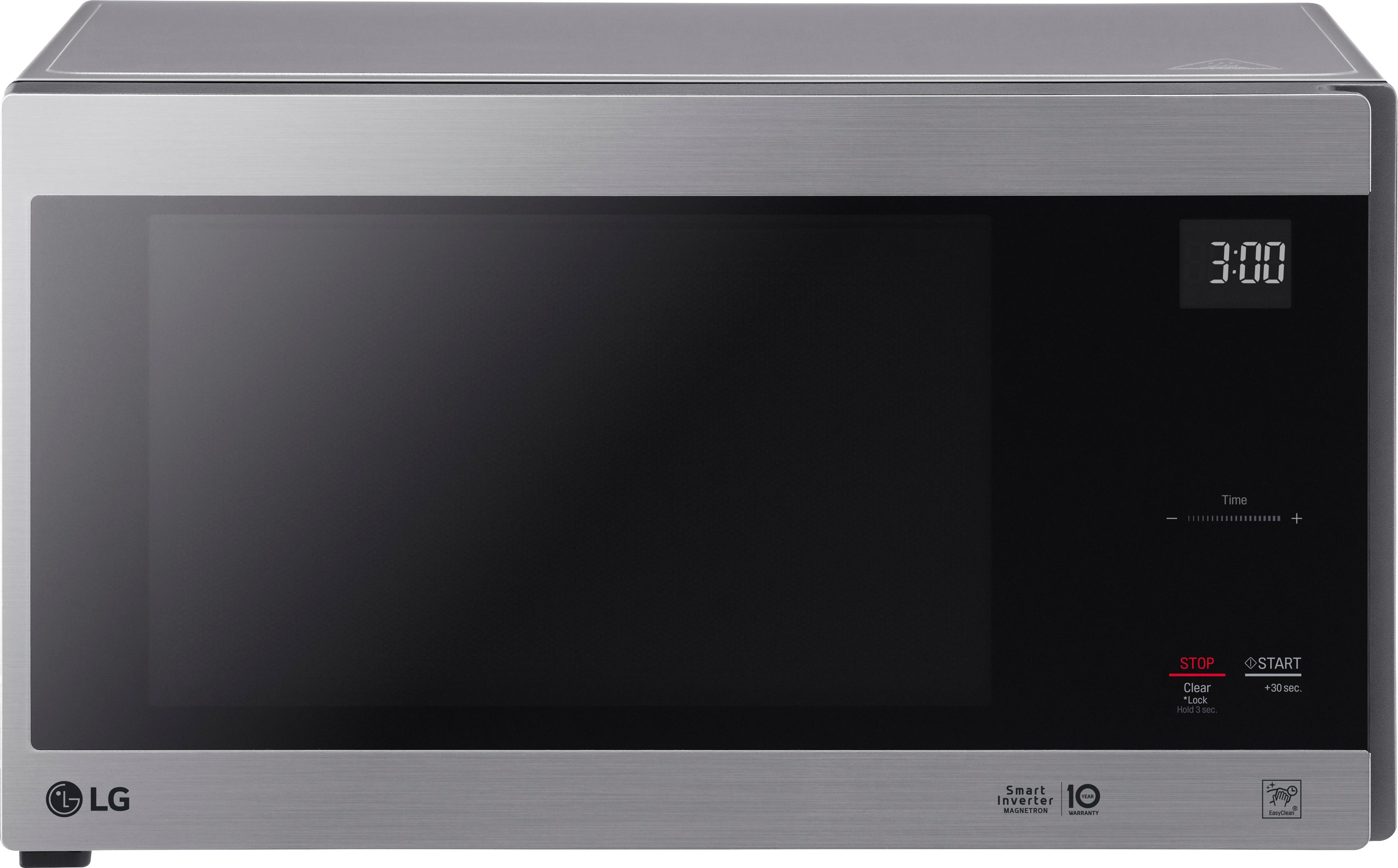 lg neochef 1 5 cu ft mid size microwave stainless steel