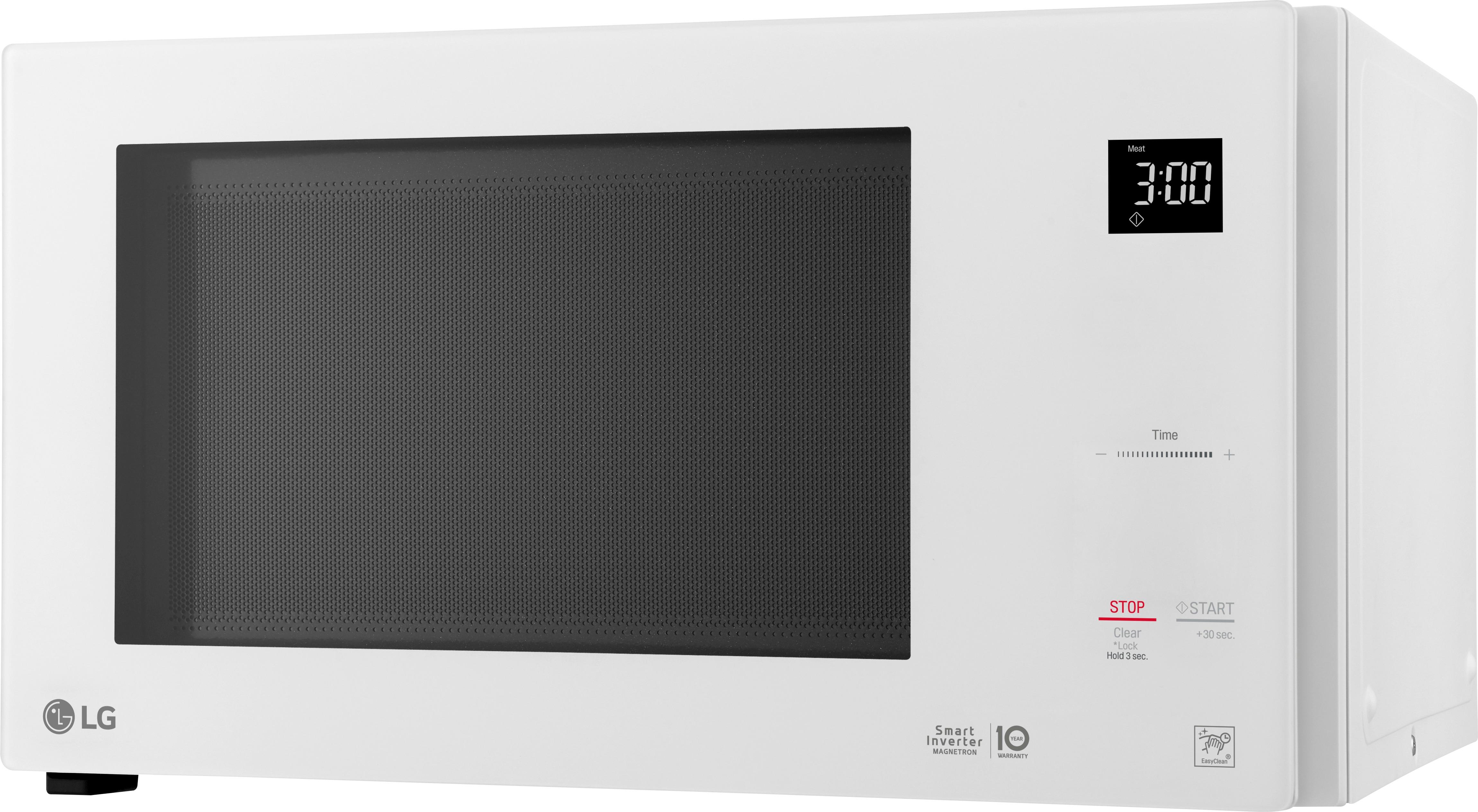 lg neochef 1 5 cu ft mid size microwave smooth white