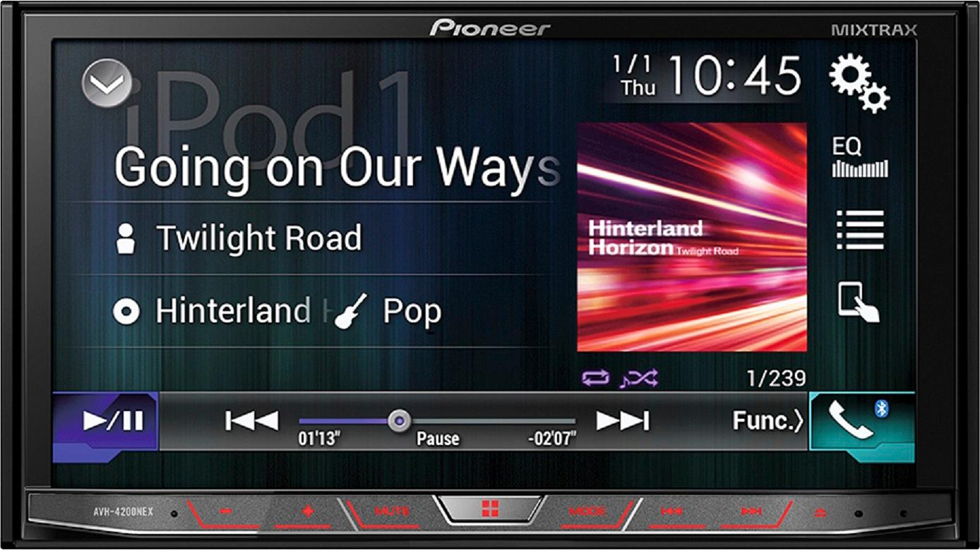 hight resolution of best buy pioneer 7 android auto apple carplay built in bluetooth in dash cd dvd dm receiver black avh 4201nex