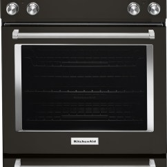 Kitchen Aid Range Henckels Shears Kitchenaid 6 4 Cu Ft Self Cleaning Slide In Electric Convection