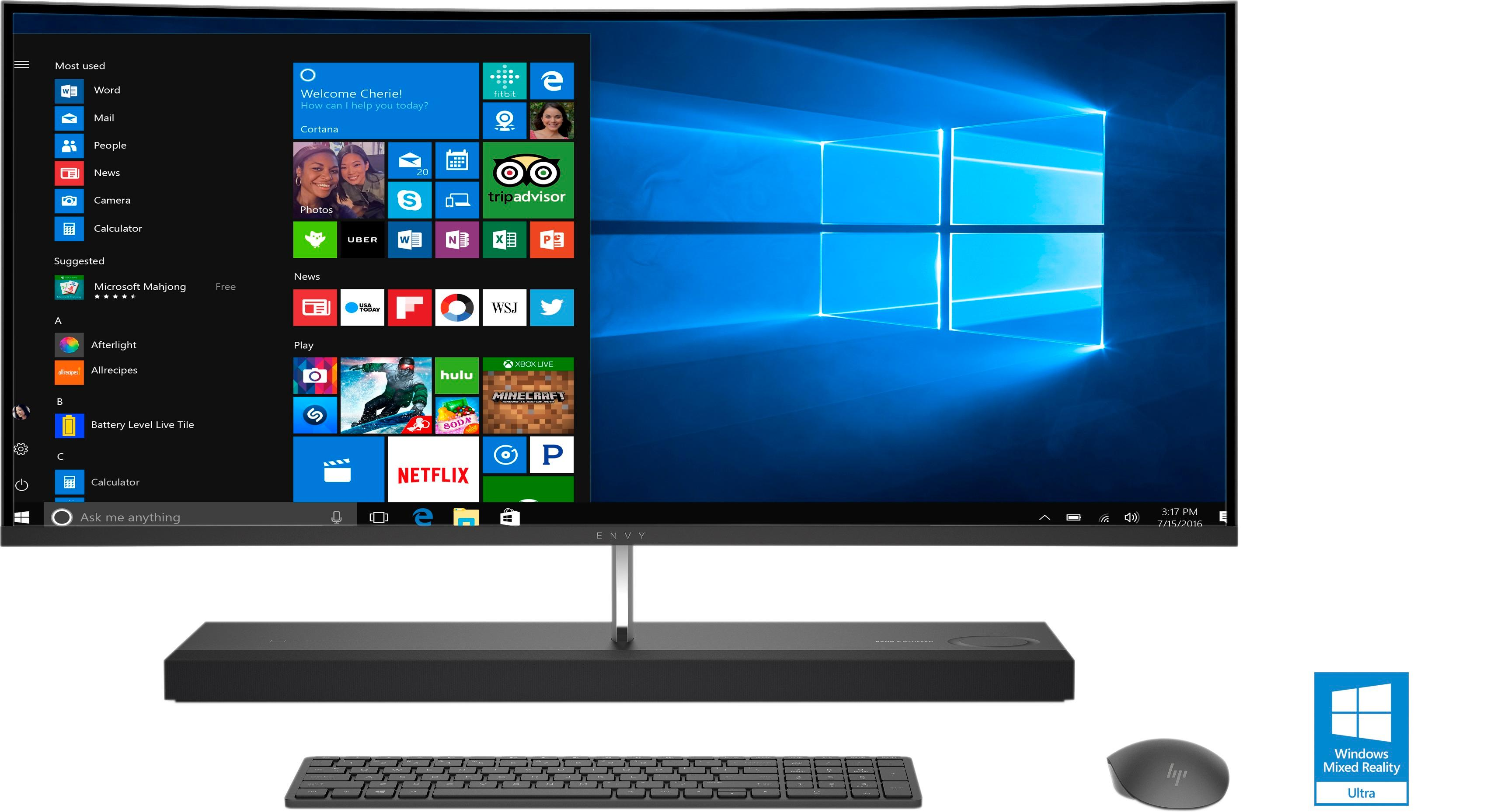 Best Buy HP ENVY Curved 34 All In One Intel Core I7 16GB Memory 256GB Solid State Drive Black