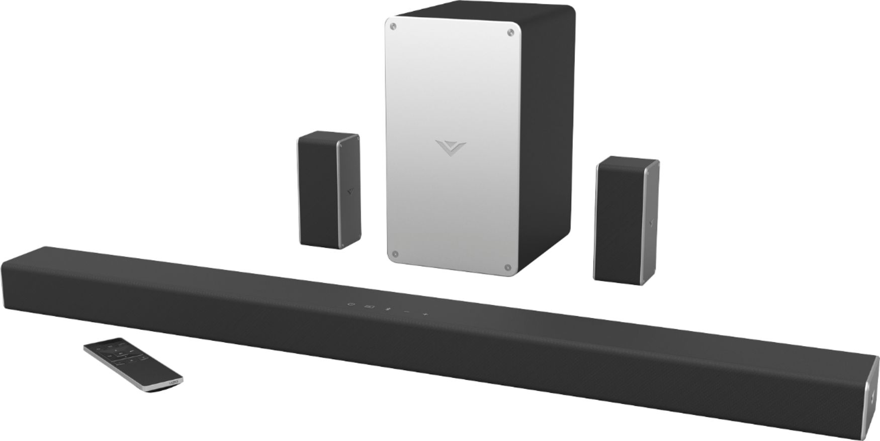 hight resolution of vizio smartcast 5 1 channel sound bar system with 5 1 4 wireless subwoofer black sb3651 e6 best buy