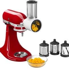 Kitchen Aid Mixer Attachments Table Base Best Buy Kitchenaid Ksmvsa Fresh Prep Slicer Shredder Attachment For Stand Mixers Multi