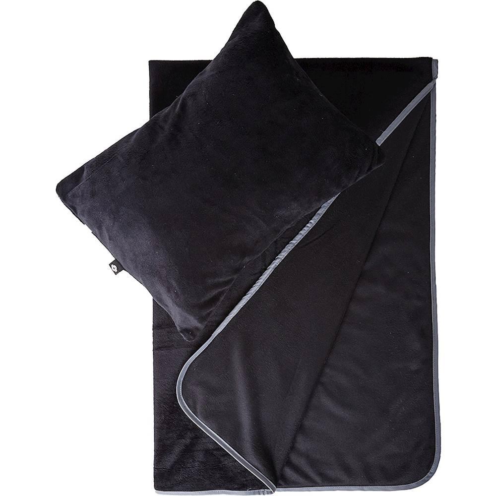 samsonite pillow and blanket comfort gift set black
