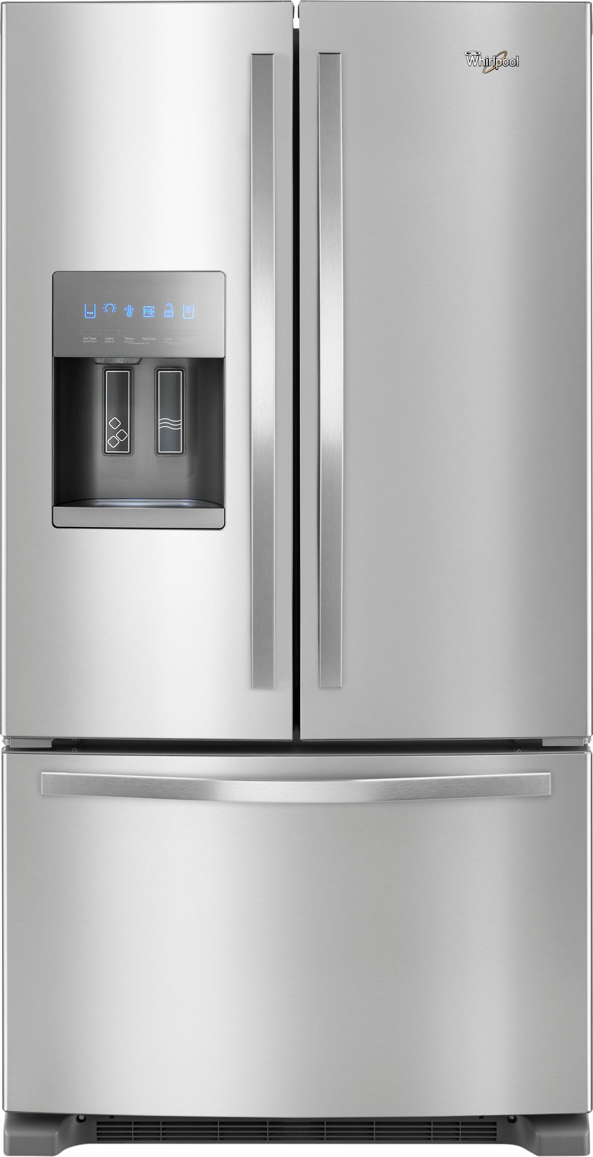 hight resolution of ft french door refrigerator stainless steel front zoom