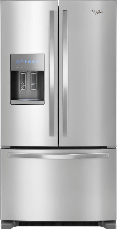 small resolution of ft french door refrigerator stainless steel front zoom