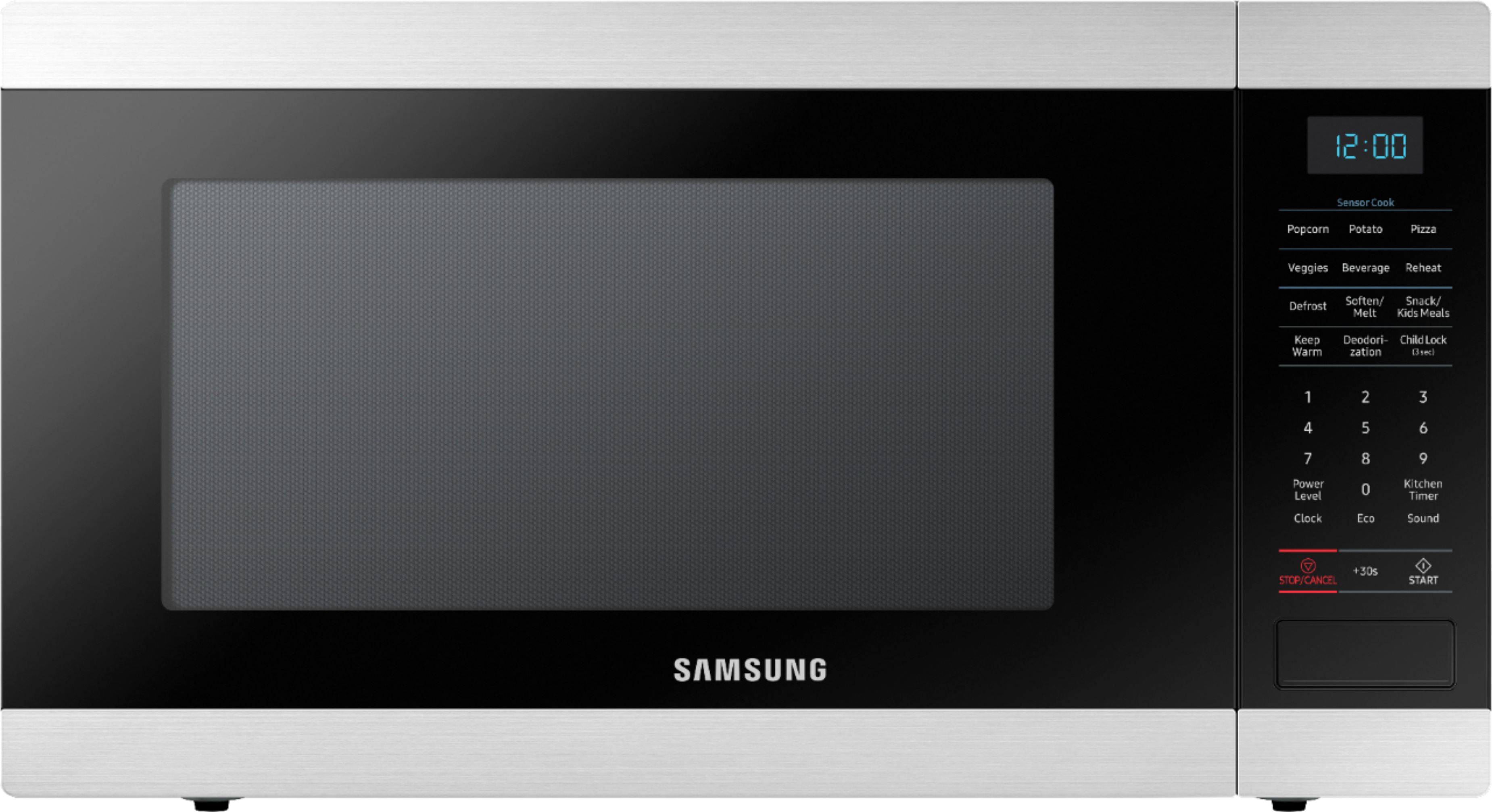 samsung 1 9 cu ft countertop microwave with sensor cook stainless steel
