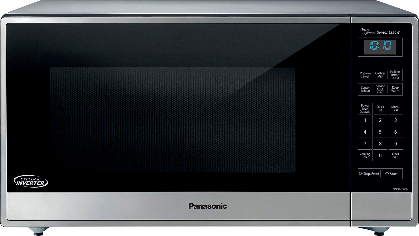 panasonic 1 6 cu ft family size microwave stainless steel silver
