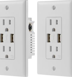 dynex 2 4a usb wall outlet 2 pack white  [ 5000 x 4185 Pixel ]