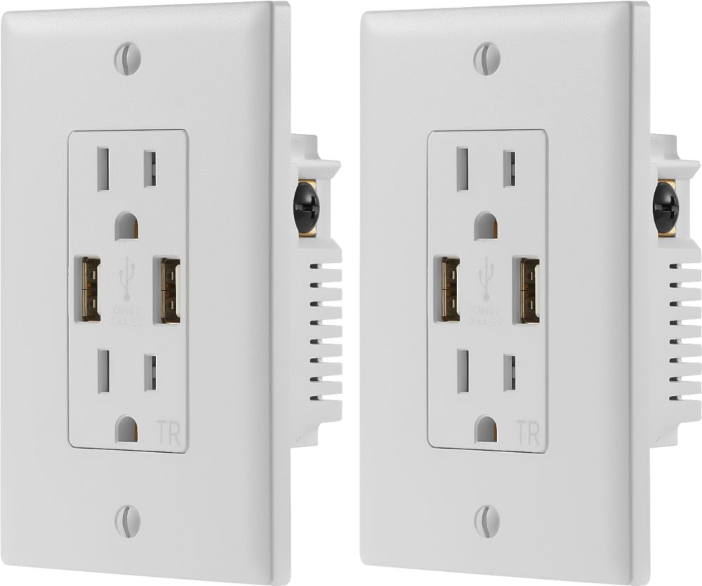medium resolution of dynex 2 4a usb wall outlet 2 pack white