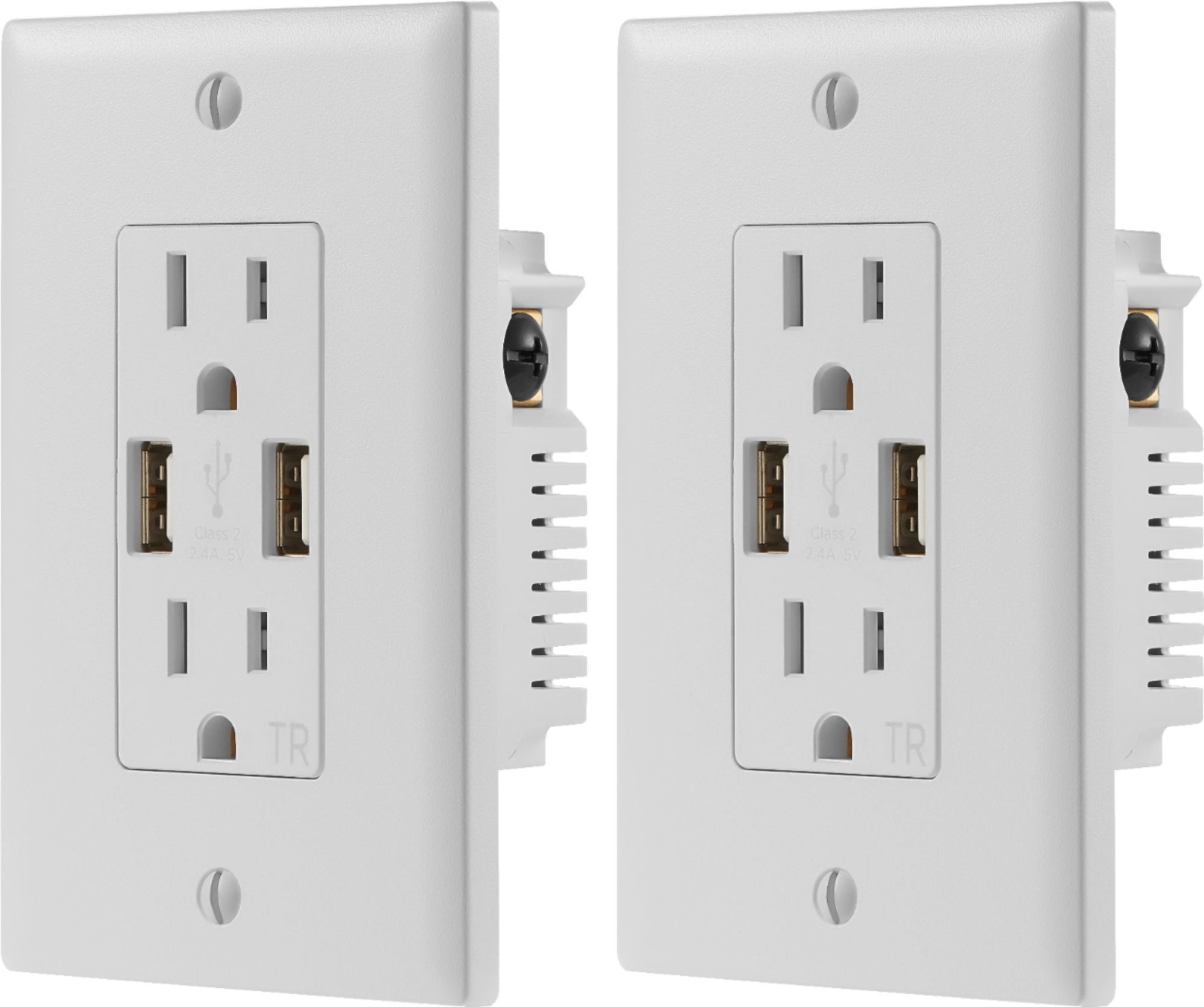 hight resolution of dynex 2 4a usb wall outlet 2 pack white