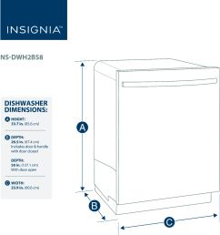 best buy insignia 24 top control built in dishwasher black stainless steel ns dwh2bs8 [ 4288 x 4616 Pixel ]