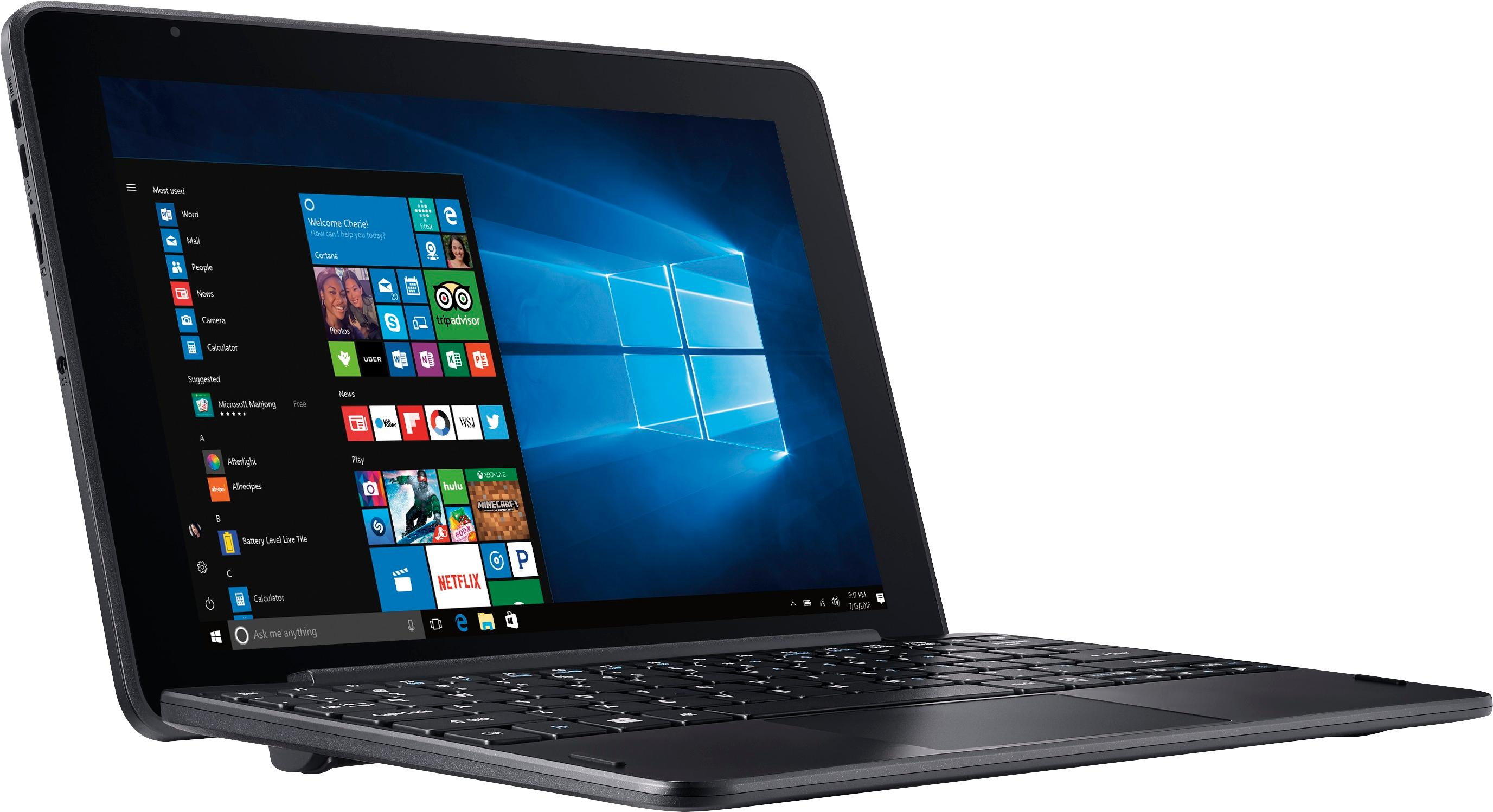 Best Buy Acer One 10 101 Tablet 32GB With Keyboard Shale Black S1003 114M