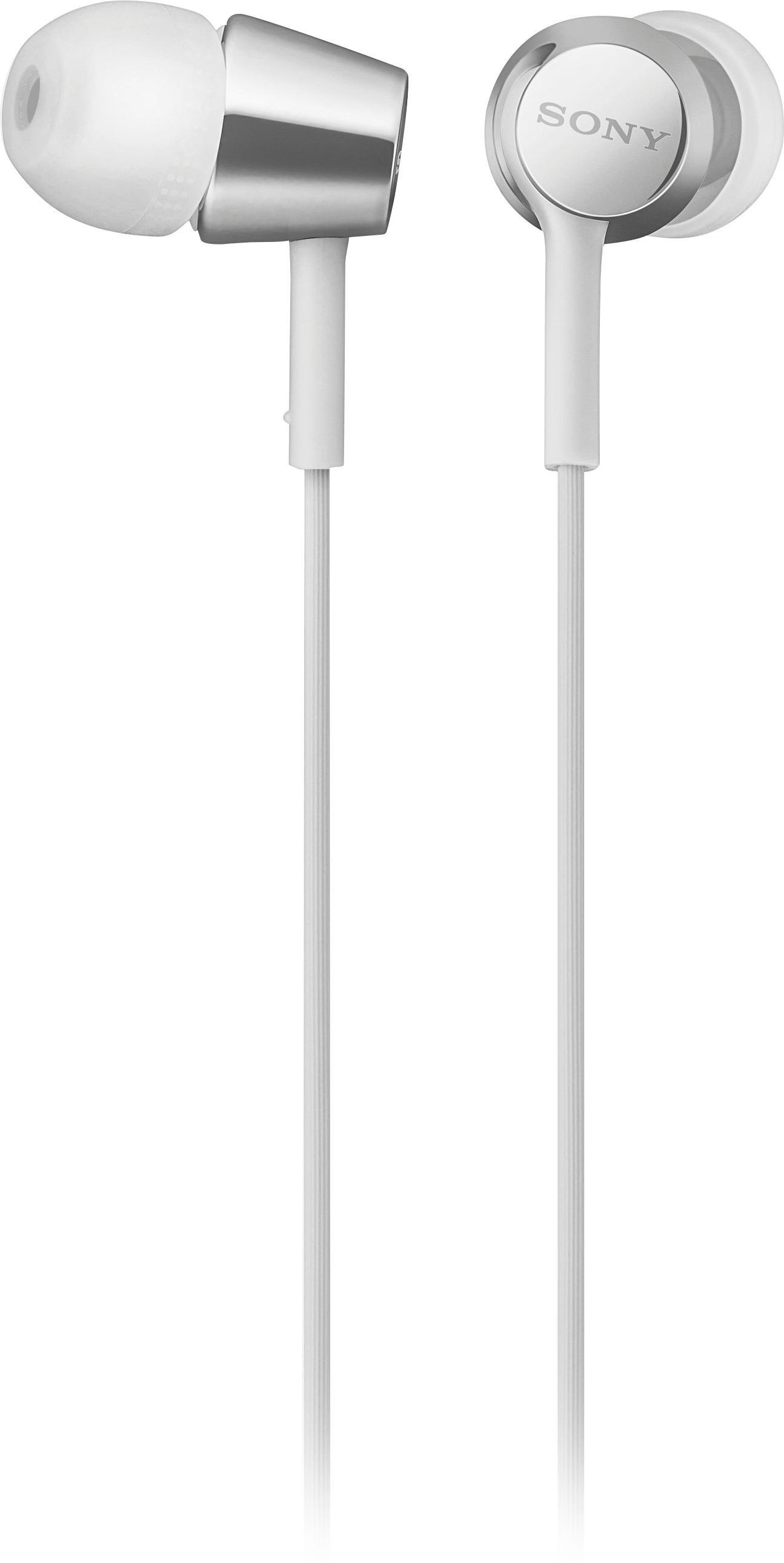 hight resolution of sony ex155ap ex series wired in ear headphones white mdrex155ap w best buy