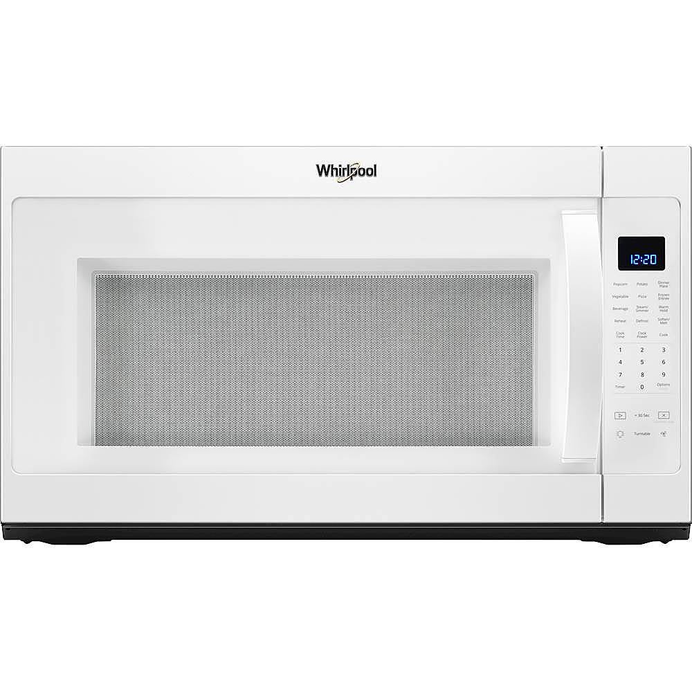 whirlpool 2 1 cu ft over the range microwave with sensor cooking white