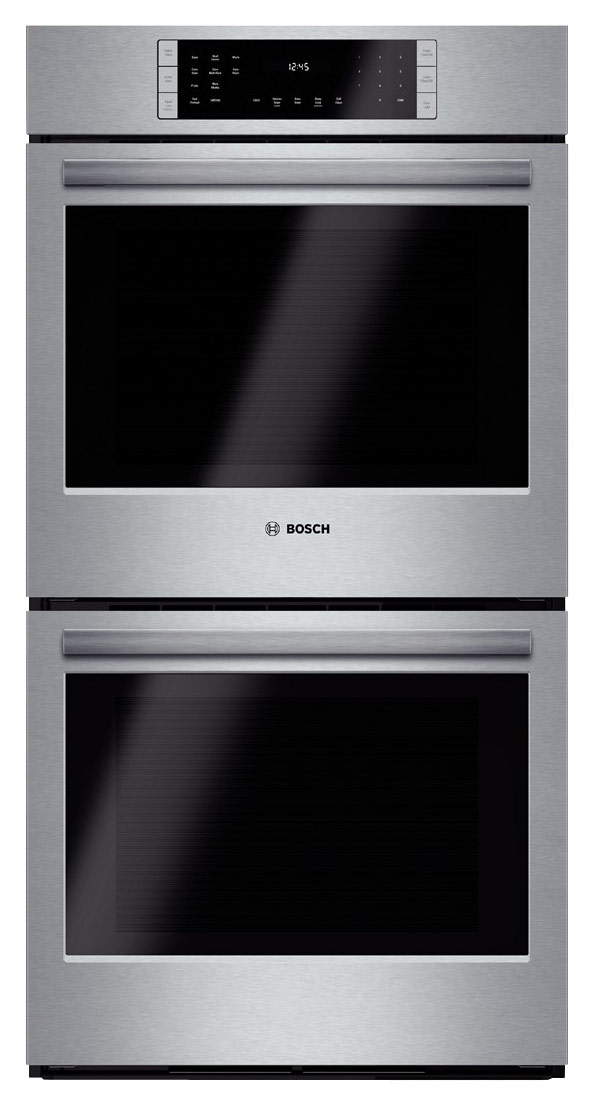 bosch 800 series 27 built in double electric convection wall oven stainless steel