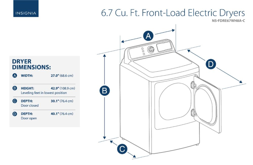 medium resolution of ft 10 cycle electric dryer white ns fdre67wh8a best buy