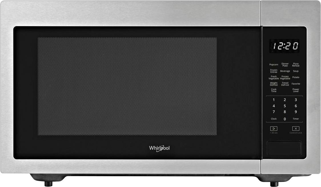 whirlpool 1 6 cu ft full size microwave stainless steel