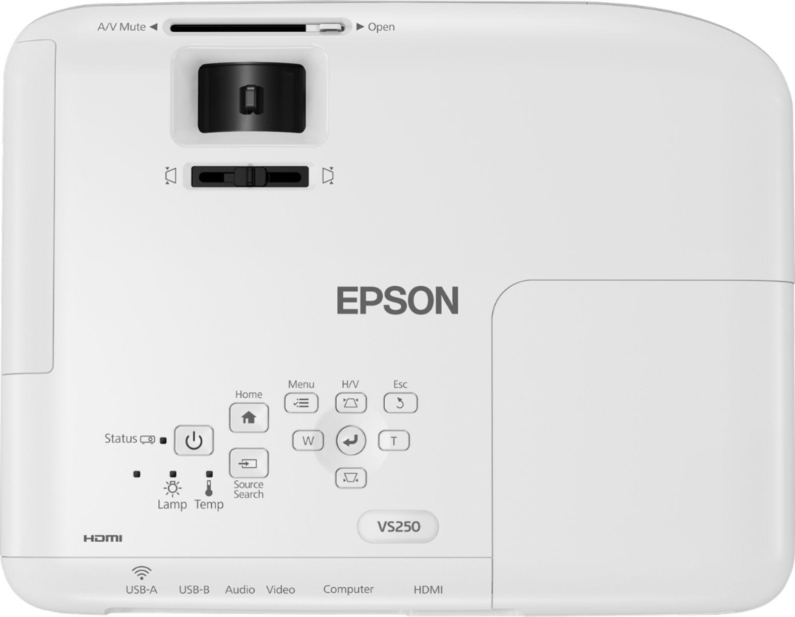 Epson VS250 SVGA 3LCD Projector Black/white EPSON VS250