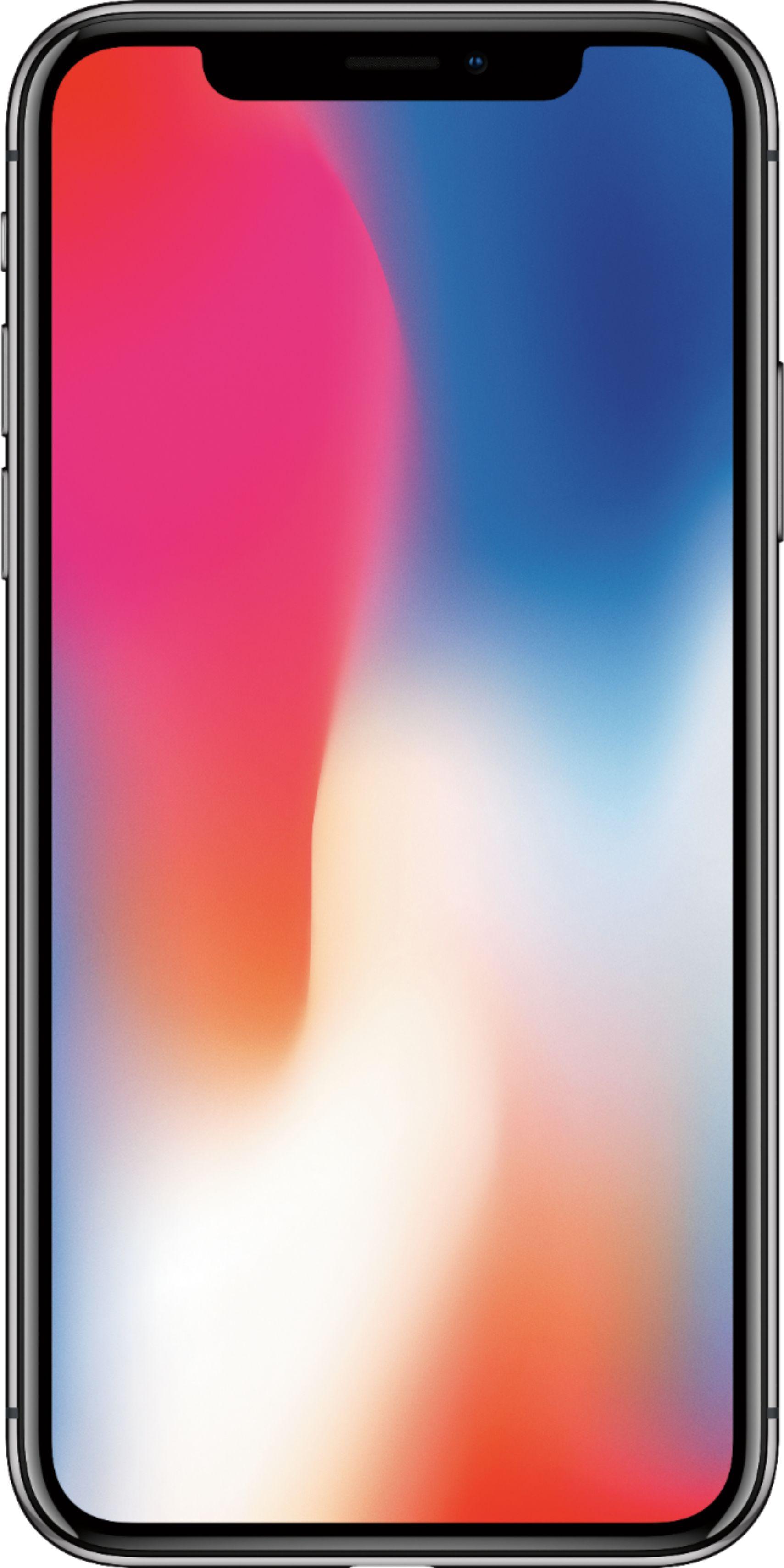 Apple iPhone X 64GB Space Gray Sprint MQA52LLA  Best Buy