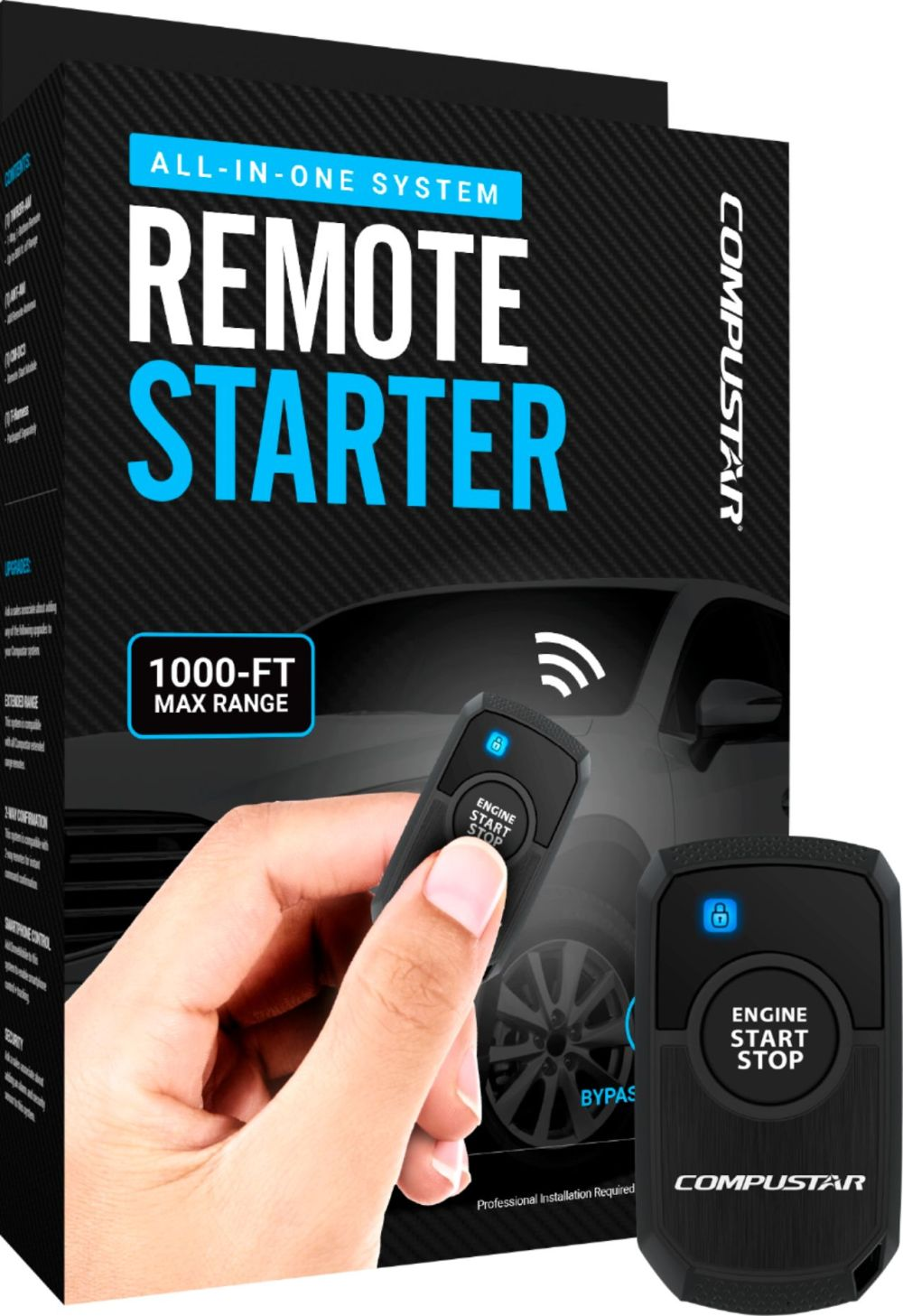 medium resolution of compustar 1 button remote starter t harness kit 2nd gen installation required black rs1b dc3 best buy