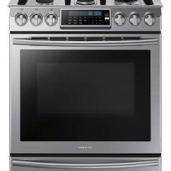 Kitchen Stove Gas Island With Built In Seating Samsung 5 8 Cu Ft Self Cleaning Slide Convection Range