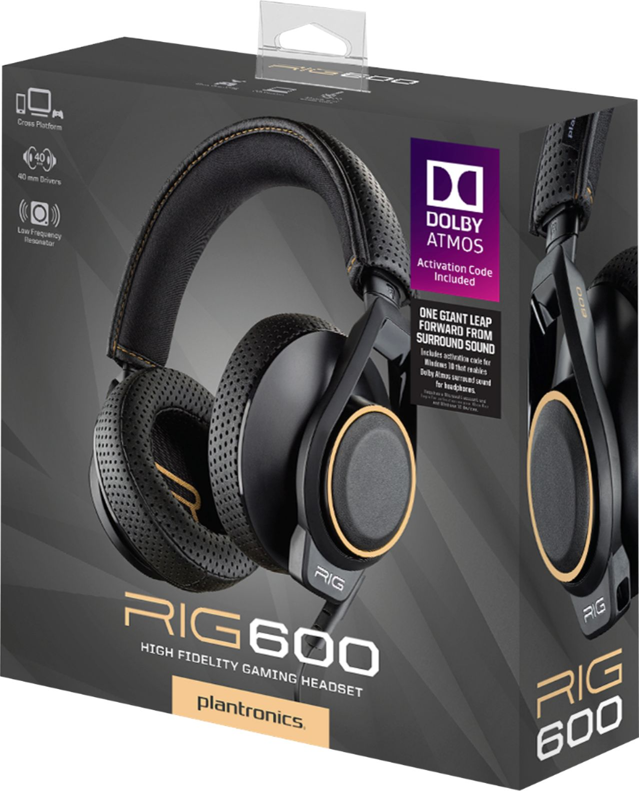 Plantronics RIG 600 Wired Dolby Atmos Gaming Headset for PC. PS4. Xbox One Black 210261-01 - Best Buy