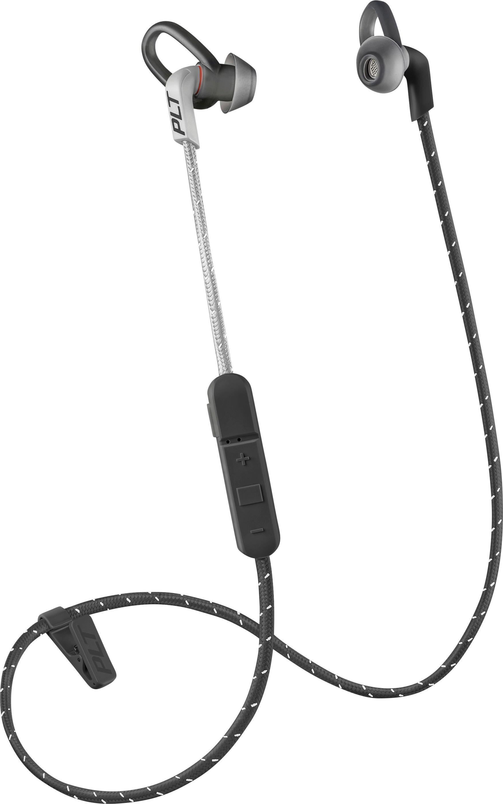 hight resolution of best buy plantronics backbeat fit 305 wireless in ear headphones gray black 209058 63