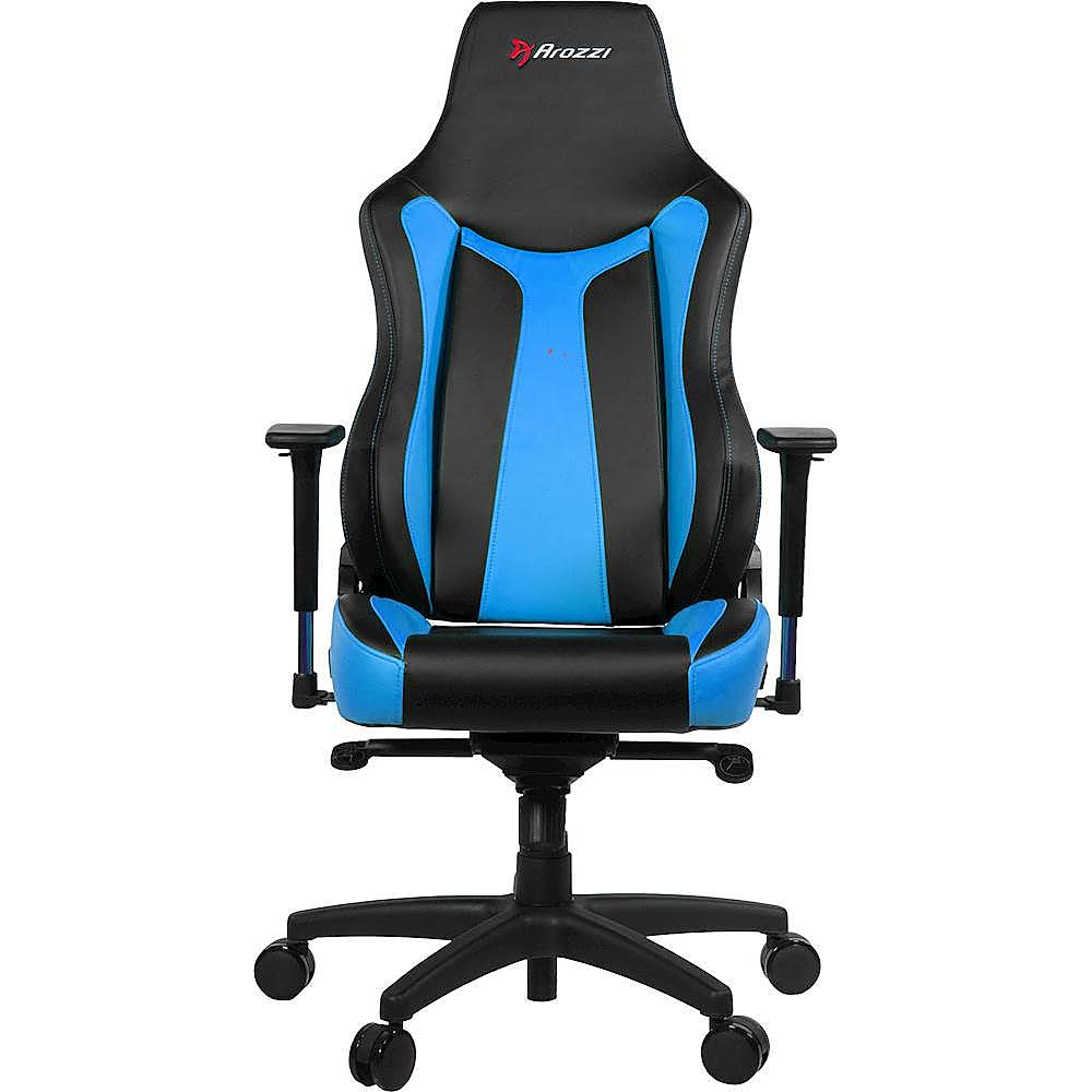 dxr racing chair kohls folding chairs gaming video game best buy arozzi vernazza blue front zoom