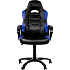 Blue Leather Office Chair Ergonomic Computer Chairs Arozzi 5 Pointed Star Polyurethane Multi Enzo Front Zoom