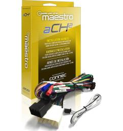 best buy maestro ach2 plug and play amplifier harness for select chrysler dodge jeep and ram vehicles black hrn ar ch2 [ 1000 x 1000 Pixel ]