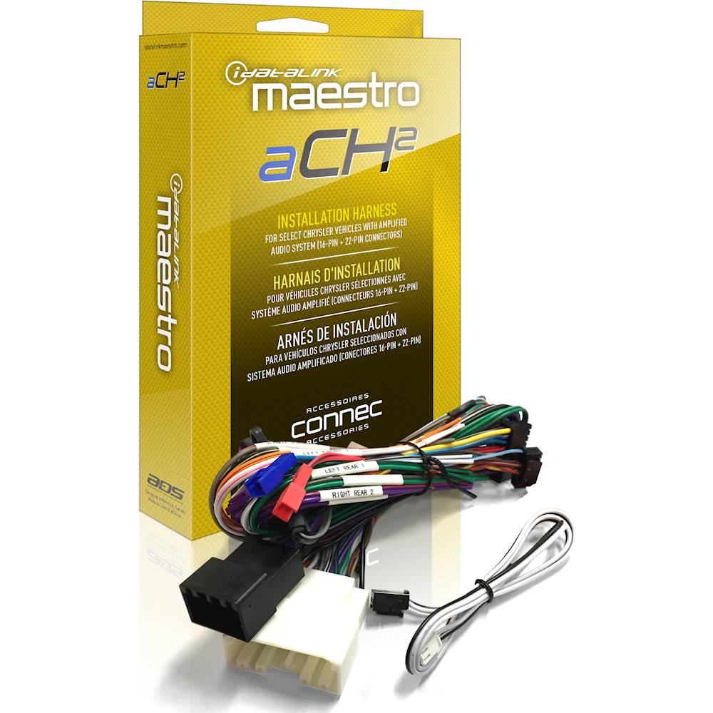 medium resolution of best buy maestro ach2 plug and play amplifier harness for select chrysler dodge jeep and ram vehicles black hrn ar ch2