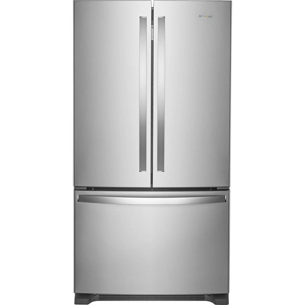 Whirlpool 20 Cu. Ft. French Door Counter-Depth Refrigerator Silver ...