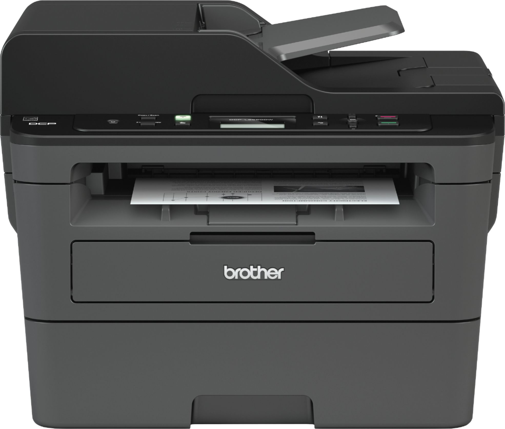hight resolution of brother dcp l2550dw wireless black and white all in one printer black dcp l2550dw best buy
