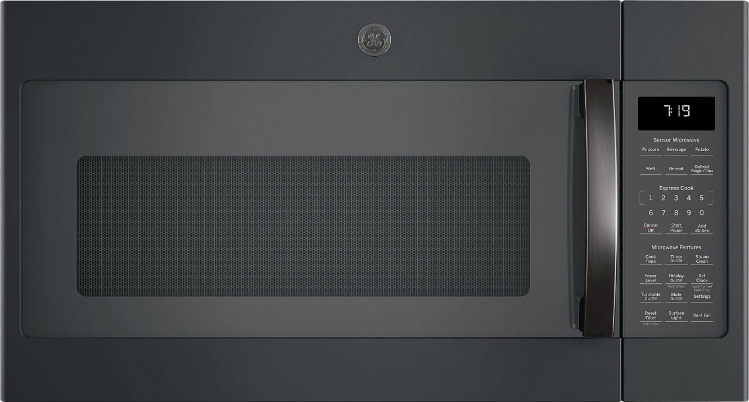 black slate ge microwaves best buy