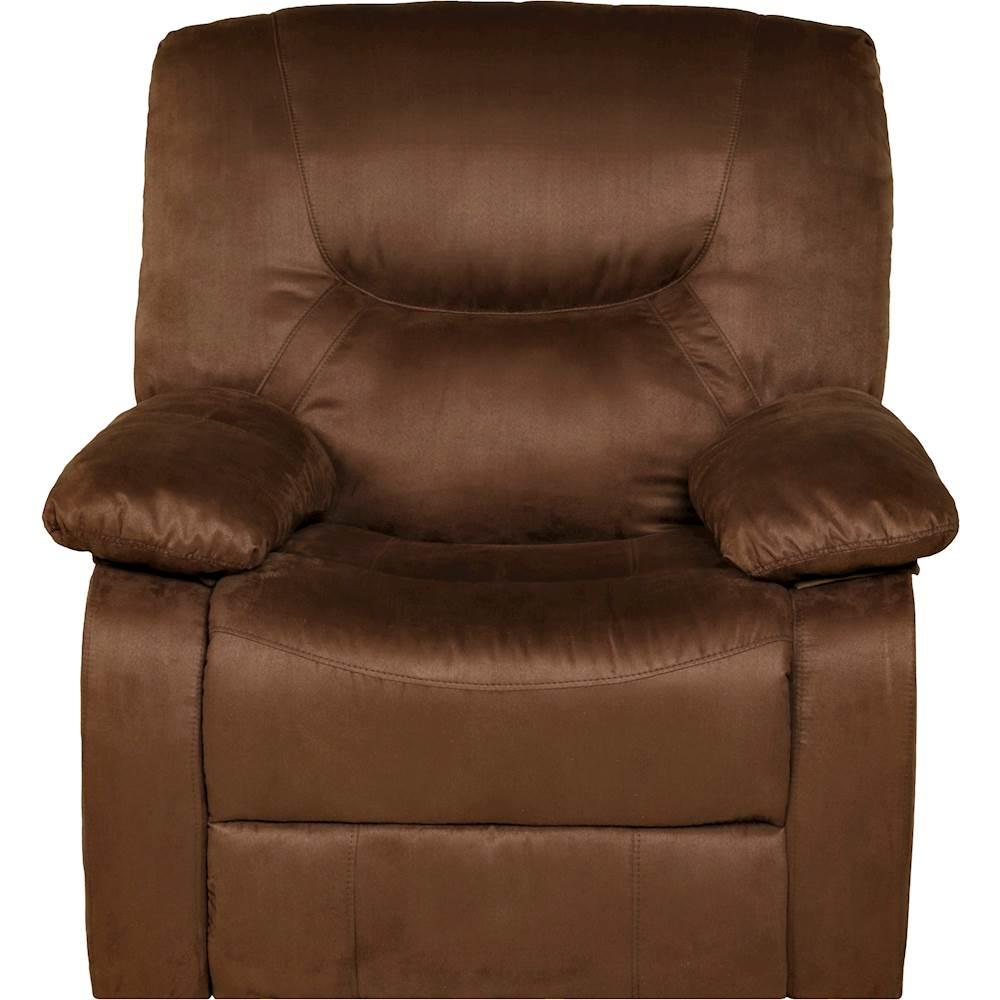 rocker and recliner chair your zone flip relaxzen brown 60 701511 best buy front zoom