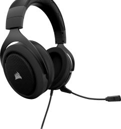 corsair hs60 wired stereo gaming headset for pc xbox one playstation 4 nintendo switch and mobile devices carbon ca 9011173 na best buy [ 6169 x 7325 Pixel ]