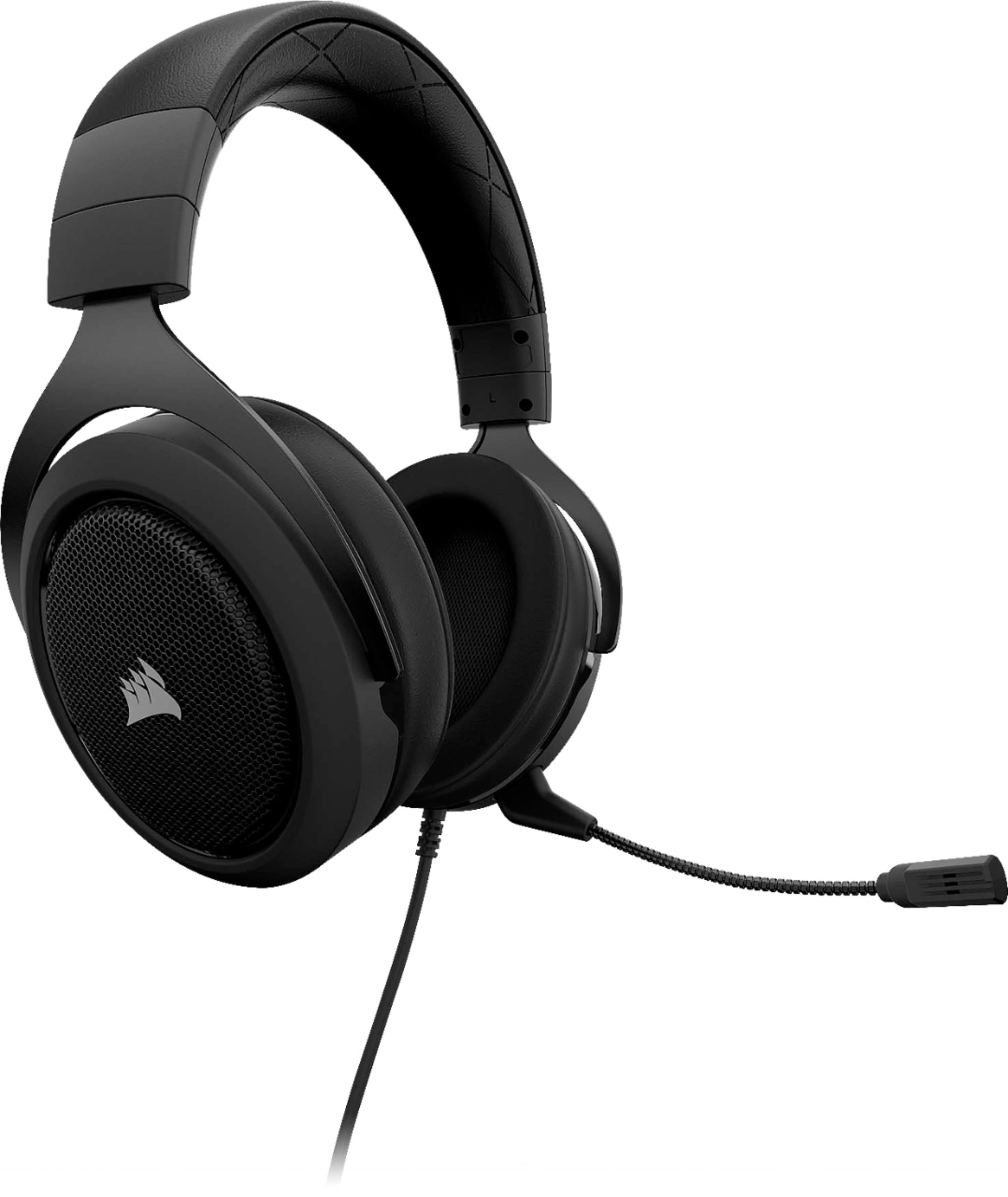 hight resolution of corsair hs60 wired stereo gaming headset for pc xbox one playstation 4 nintendo switch and mobile devices carbon ca 9011173 na best buy