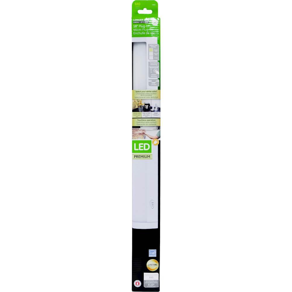 ge motion sensing 18 led under cabinet light fixture white