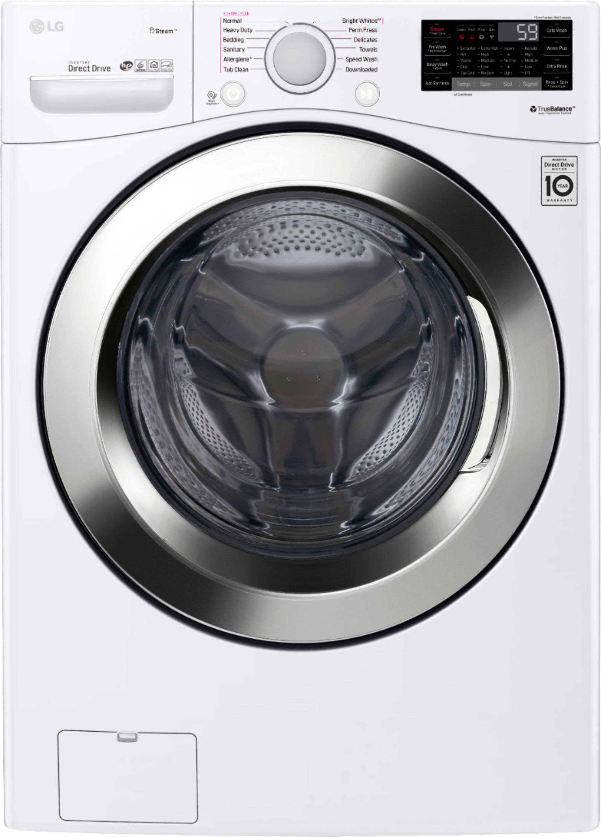 hight resolution of ft 12 cycle front loading smart wi fi washer with 6motion technology white wm3700hwa best buy