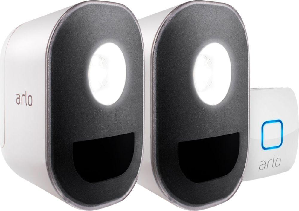 medium resolution of arlo indoor outdoor smart home security lights wire free weather resistant motion sensor rechargeable 2 pack als1102 100nas best buy