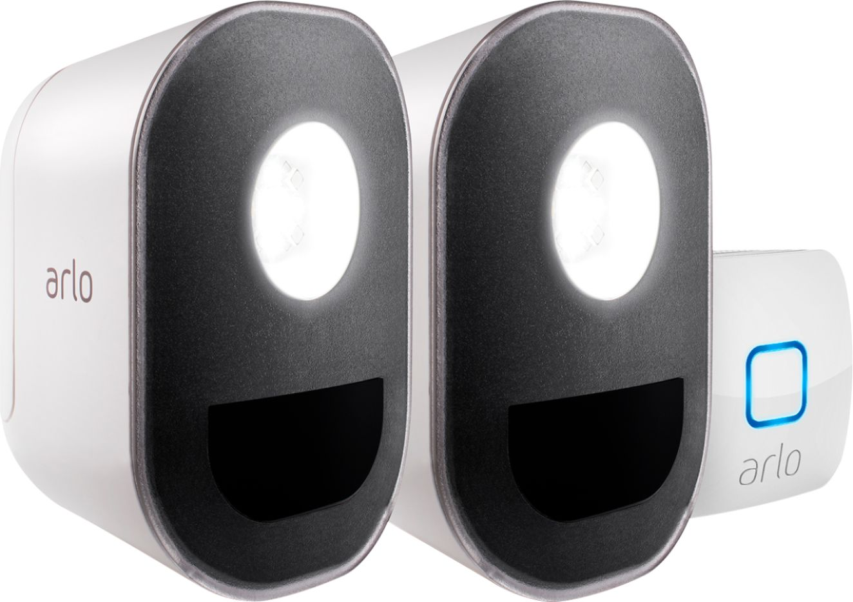 hight resolution of arlo indoor outdoor smart home security lights wire free weather resistant motion sensor rechargeable 2 pack als1102 100nas best buy