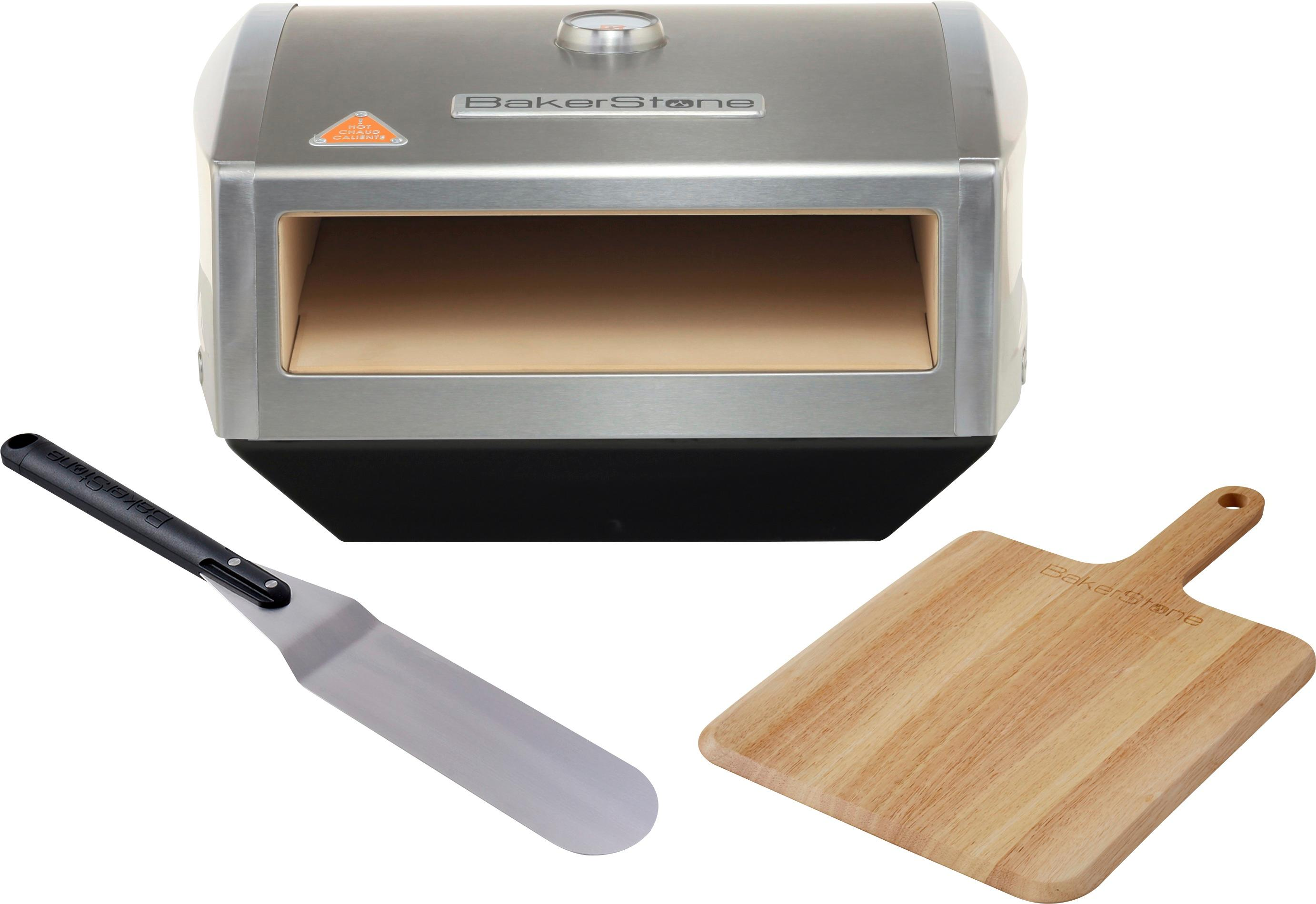 kitchen stove tops runner rug bakerstone gas top pizza oven box kit silver os abdxx o sss front zoom
